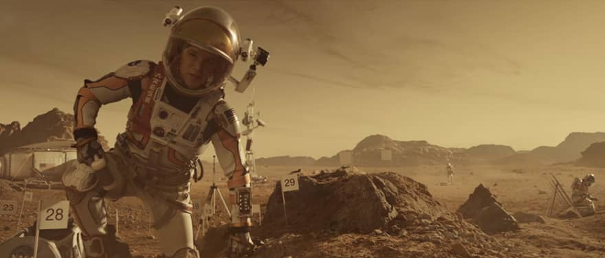 The Martian kamera arkası