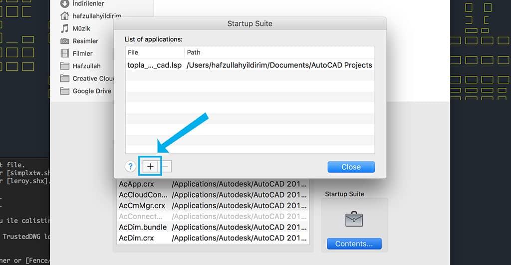 Autocad te lisp eklemek mac